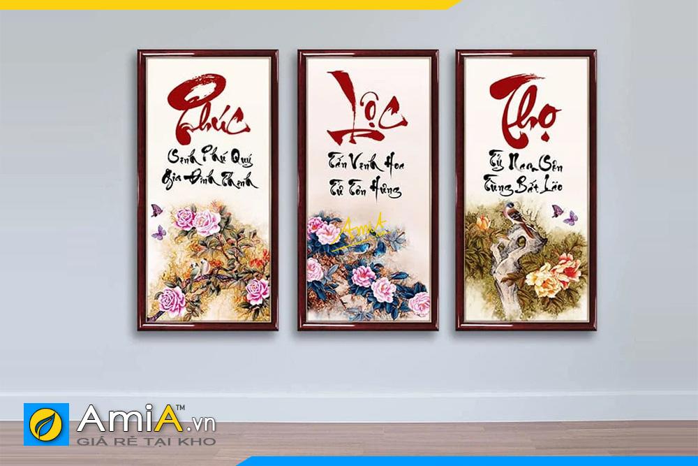 Hình ảnh Bộ tranh chữ Phúc Lộc Thọ mừng Tết đẹp ý nghĩa