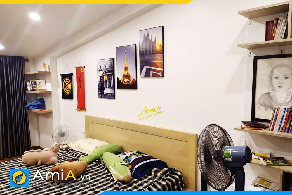 Hình ảnh Bộ tranh tháp Eiffel đẹp cho phòng ngủ AmiA 1514
