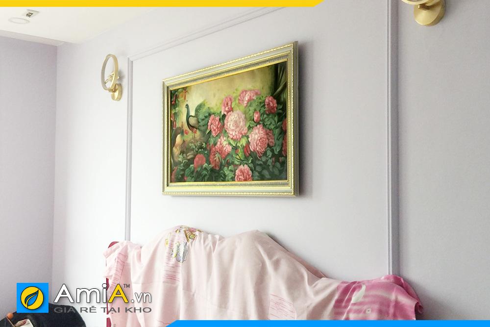 Hình ảnh Bức tranh phu thê viên mãn treo tường phòng ngủ đẹp AmiA CC14