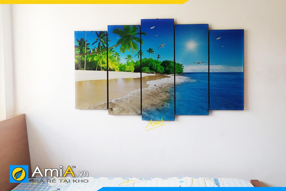Hình ảnh Tranh phong cảnh biển treo tường phòng ngủ đẹp AmiA 1647
