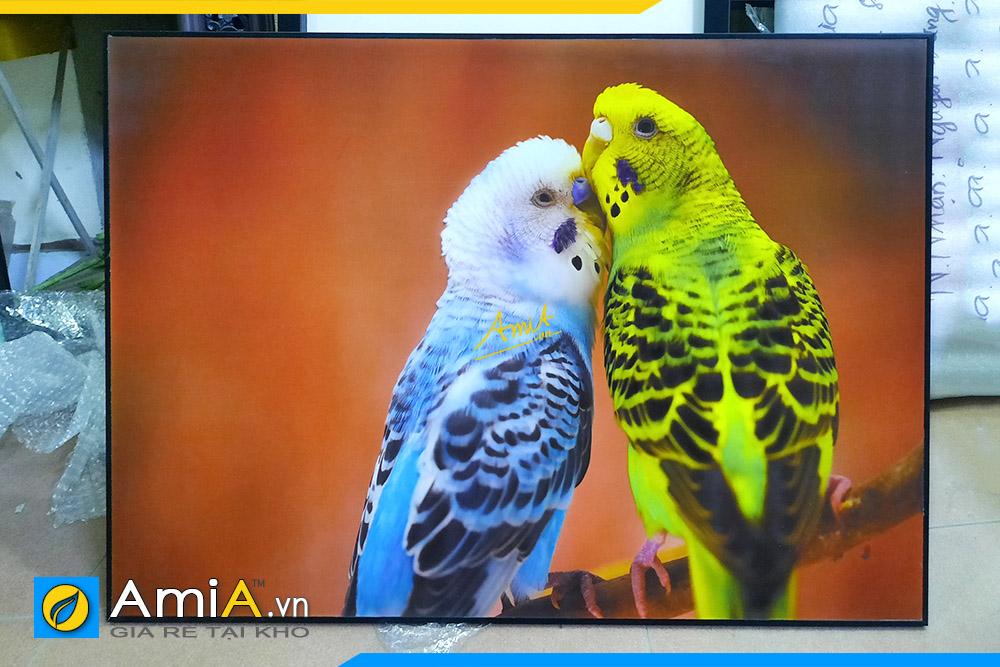 Hình ảnh Tranh phòng ngủ đẹp đôi chim chụm đầu tình yêu AmiA DCHIM110
