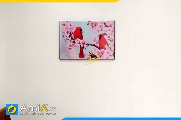 Hình ảnh Tranh phòng ngủ đôi chim tình yêu đẹp lãng mạn AmiA DCHIM111