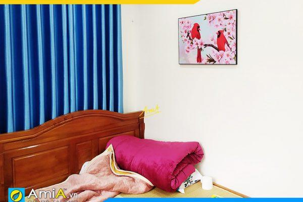 Hình ảnh Tranh phòng ngủ đôi chim uyên ương quấn quýt AmiA DCHIM111