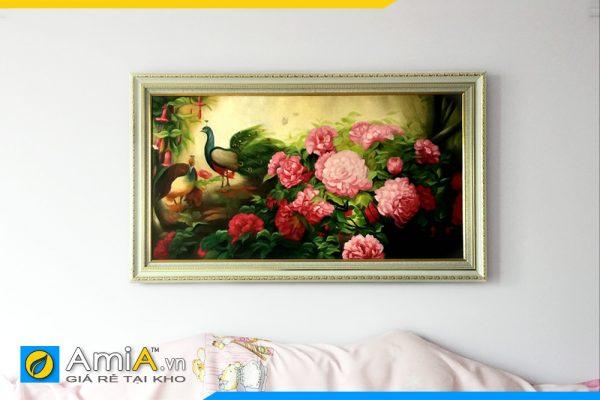 Hình ảnh Tranh phòng ngủ phu thê viên mãn đẹp ý nghĩa AmiA CC14