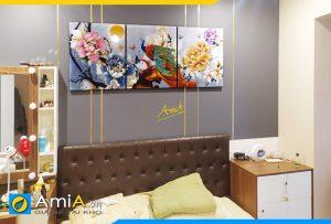 Hình ảnh Tranh phu thê viên mãn treo đầu giường phòng ngủ AmiA 1017