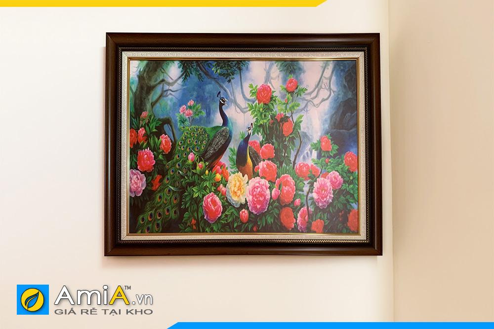Hình ảnh Tranh phu thê viên mãn treo tường phòng ngủ đẹp ý nghĩa AmiA CC13