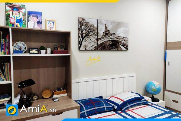 Hình ảnh Tranh tháp Eiffel Paris đen trắng treo tường phòng ngủ AmiA 1030