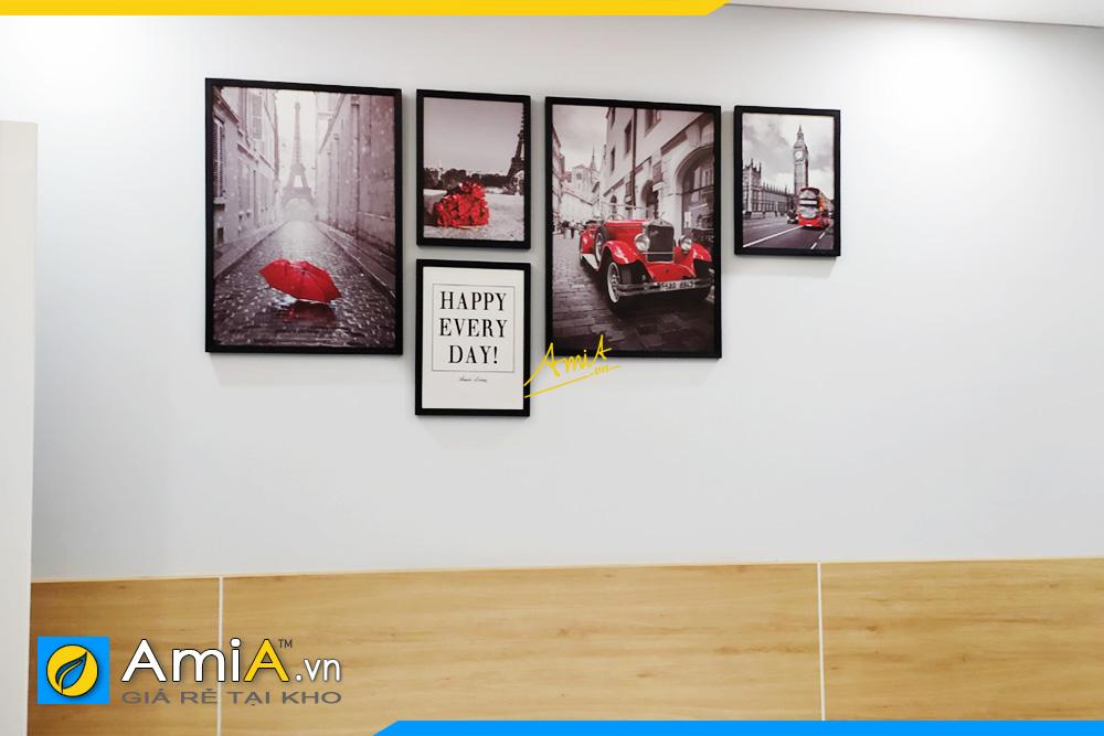 Hình ảnh Tranh treo phòng ngủ chủ đề nước ngoài đẹp AmiA 1707