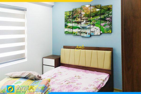 Hình ảnh Tranh treo tường phòng ngủ phong cảnh thiên nhiên rừng cây suối nước AmiA 1693