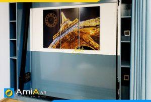 Hình ảnh Tranh treo tường phòng ngủ tháp Eiffel đẹp AmiA 1011