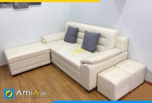 sofa da hiện đại trẻ trung AmiA 0991