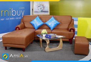 mẫu sofa da sang trọng phòng giám đốc AmiA 160602