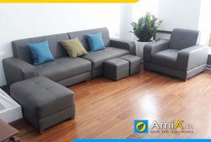 sofa da phòng giám đốc AmiA205
