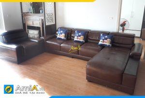 bo sofa da phong khach mau nau amia pk186