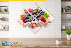 Hình ảnh Bộ tranh hoa quả treo tường trang trí phòng ăn AmiA 616