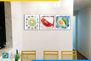 Hình ảnh Bộ tranh hoa quả ướp đá trang trí tường bàn ăn độc đáo AmiA 308