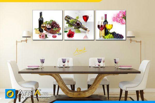 Hình ảnh Bộ tranh rượu vang treo tường bàn ăn đẹp sang AmiA 1541