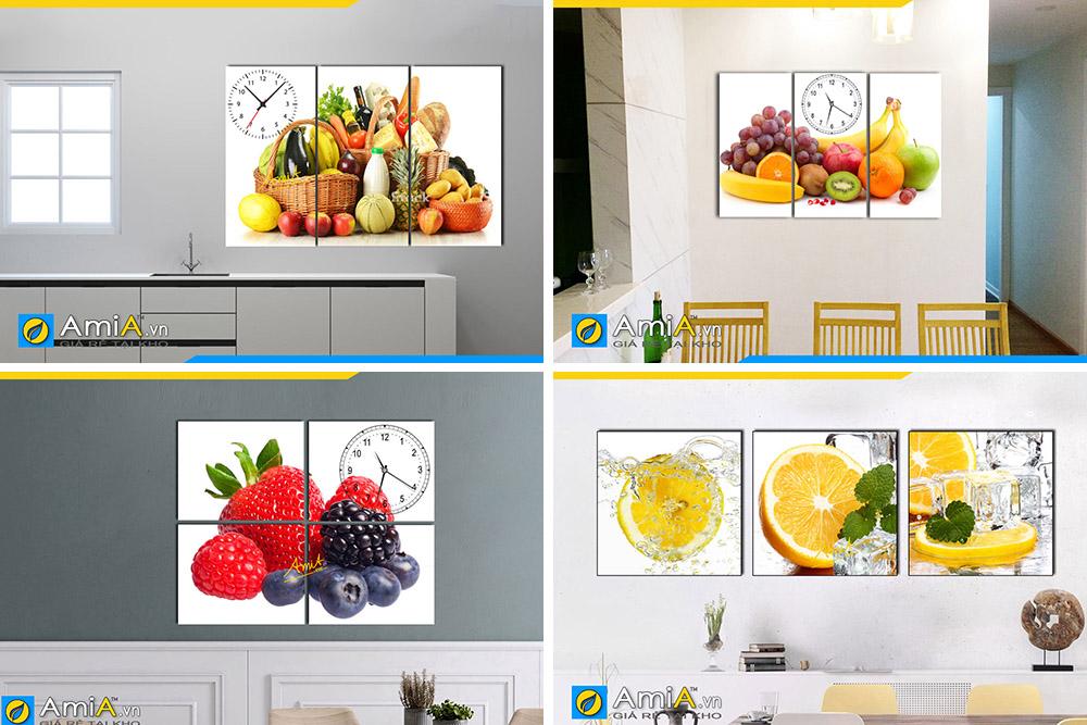 Hình ảnh Các mẫu tranh hoa quả treo tường phòng ăn bàn ăn đẹp