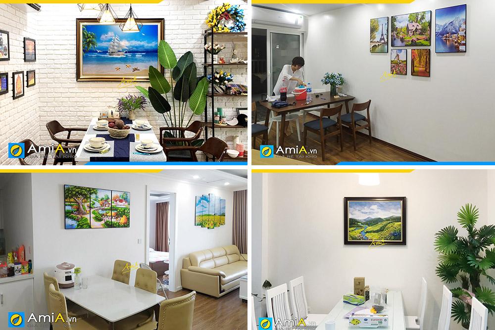 Hình ảnh Các mẫu tranh phong cảnh treo tường phòng ăn nhà bếp đẹp