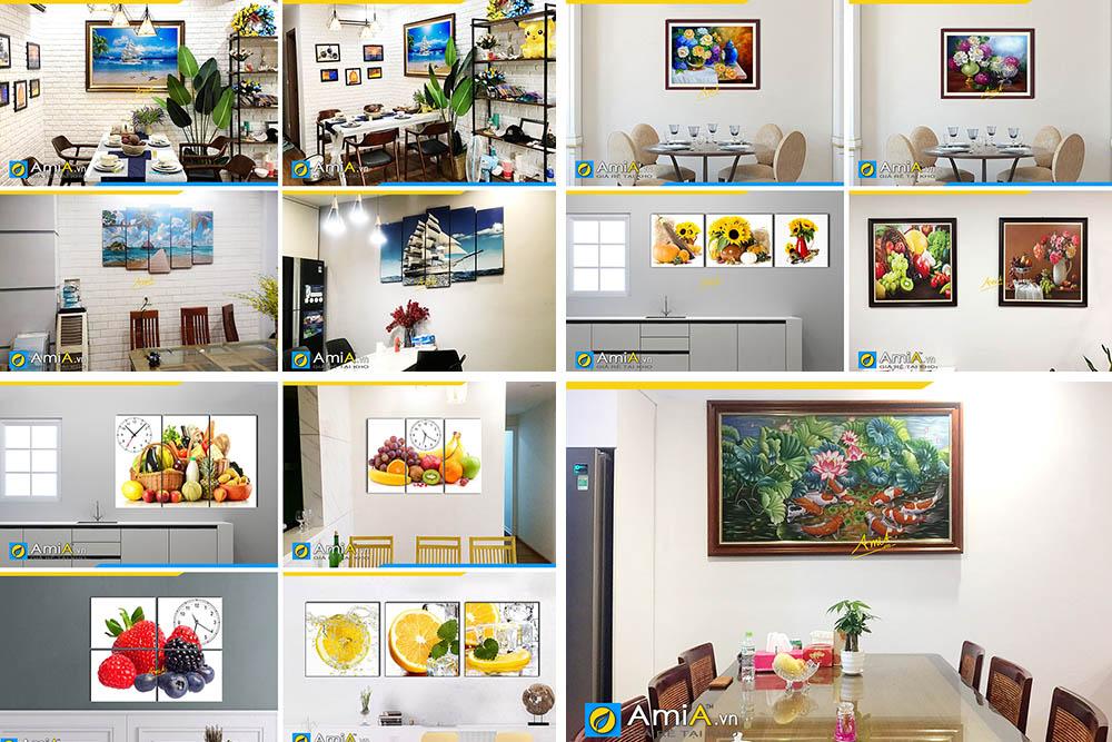 Hình ảnh Các mẫu tranh phong thủy treo bàn ăn phòng ăn nhà bếp ý nghĩa