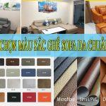 cách chọn màu sắc sofa da