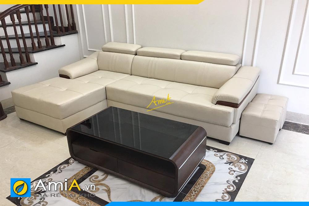 chon sofa da cho phong khach tang 2 hien dai