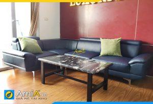 Ghế sofa da dạng góc chữ L hiện đại AmiA354