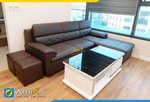 Ghế sofa da hiện đại chung cư AmiA352