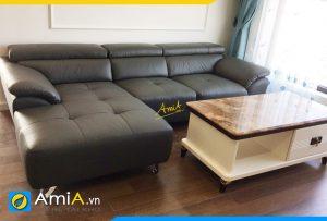 Ghế sofa da màu đen hiện đại AmiA358