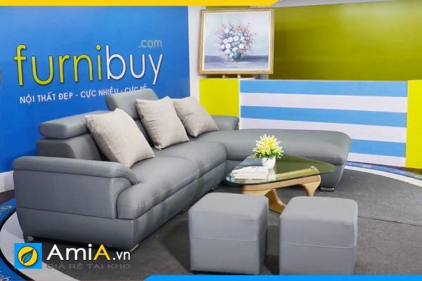 Ghế sof góc da tựa gật gù đẹp AmiA 080701