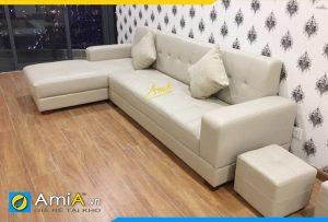 Ghế sofa da đẹp phòng khách amia174