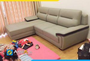 Ghế sofa da AmiA241 cực đẹp cực sang