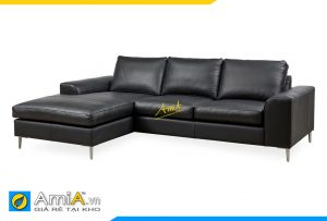Ghế sofa da đẹp góc chữ L AmiA 20131