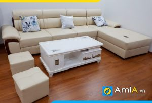 Ghế sofa da đẹp AmiA142 cho mọi nhà
