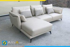 Ghế sofa da tay vịn mỏng hiện đại AmiA260