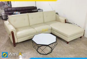 Ghế sofa da chung cư Amia234