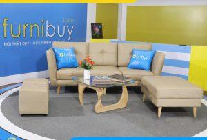 Ghế văng da công nghiệp cực đẹp cực sang cho phòng khách hiện đại AmiA225