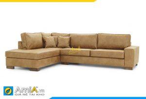 Ghế sofa da góc chữ L AmiA 20141 đẹp giá rẻ