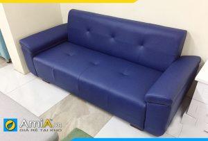 Ghế sofa da đẹp hiện đại phòng khách kích thước nhỏ gọn AmiA113