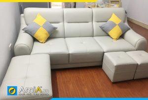 Ghế sofa da dạng văng đẹp hiện đại AmiA277