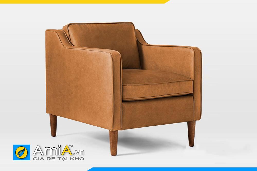 Ghế sofa da văng đẹp đơn giản AmiA 20112
