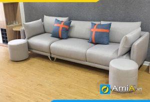 Ghế sofa da đơn giản giá rẻ amia274