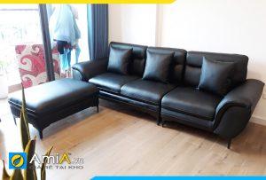 Ghế sofa da văng chung cư đẹp AmiA278