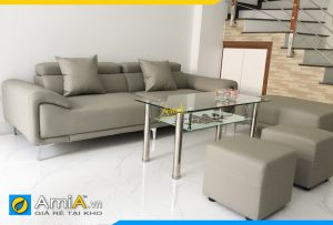 Ghế sofa da đẹp hiện đại dạng văng AmiA301