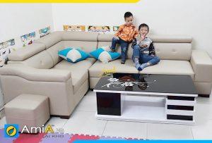 Ghế sofa da đẹp phòng khách amia041b