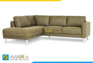 sofa da màu xanh sang trọng AmiA 20132