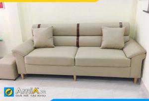 Ghế văng sofa da đẹp sọc đen nổi bật AmiA256