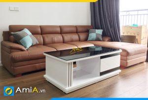 Ghế sofa da kích thước lớn kê phòng khách rộng AmiA360