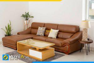mẫu sofa da phòng khách đẹp