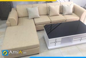 mẫu sofa phòng khách góc chữ L hiện đại